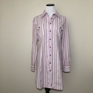 MaxMara Dresses - Weekend MaxMara Striped Button Down Shirt Dress